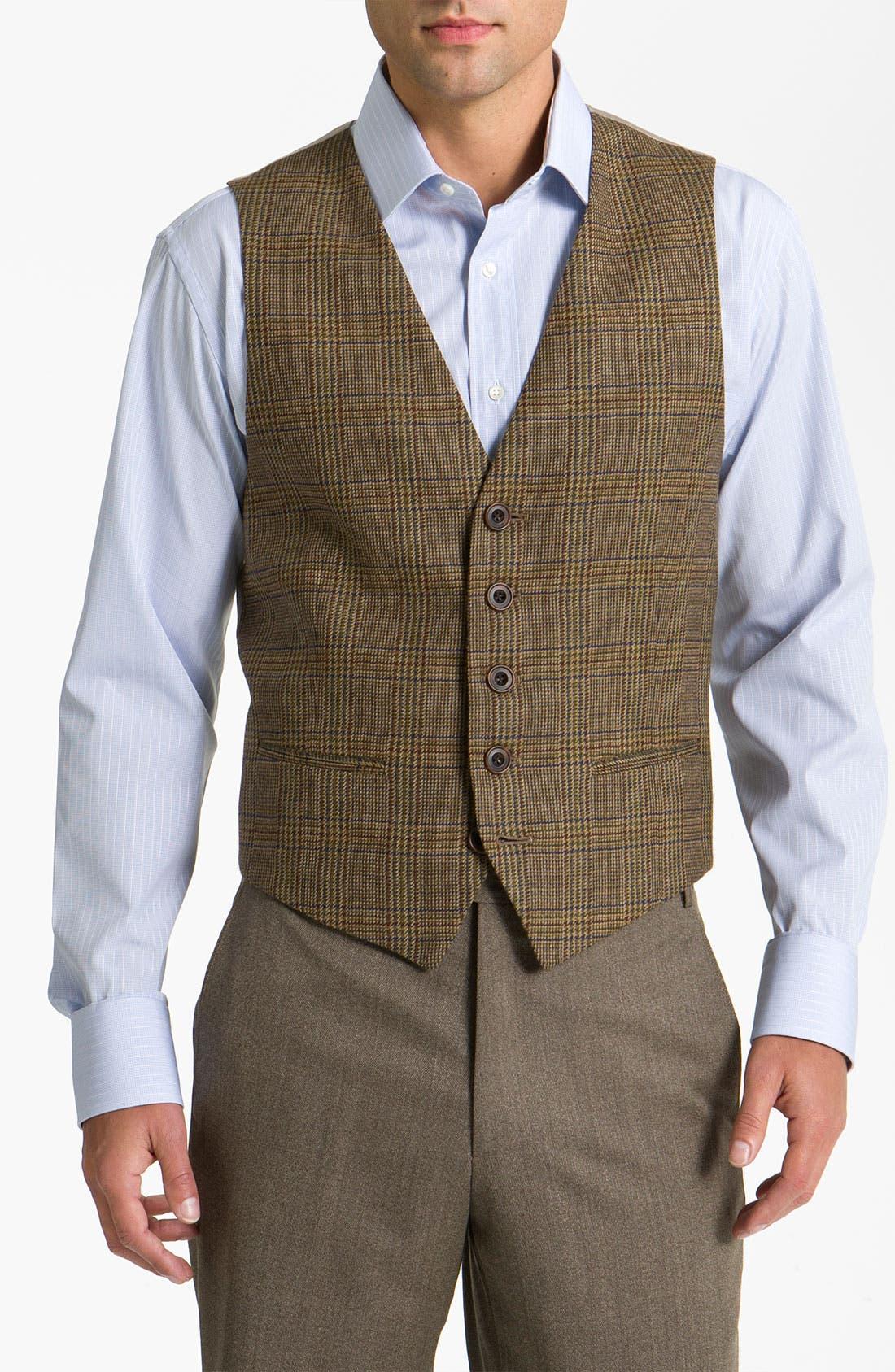 Main Image - John W. Nordstrom® Plaid Wool Vest