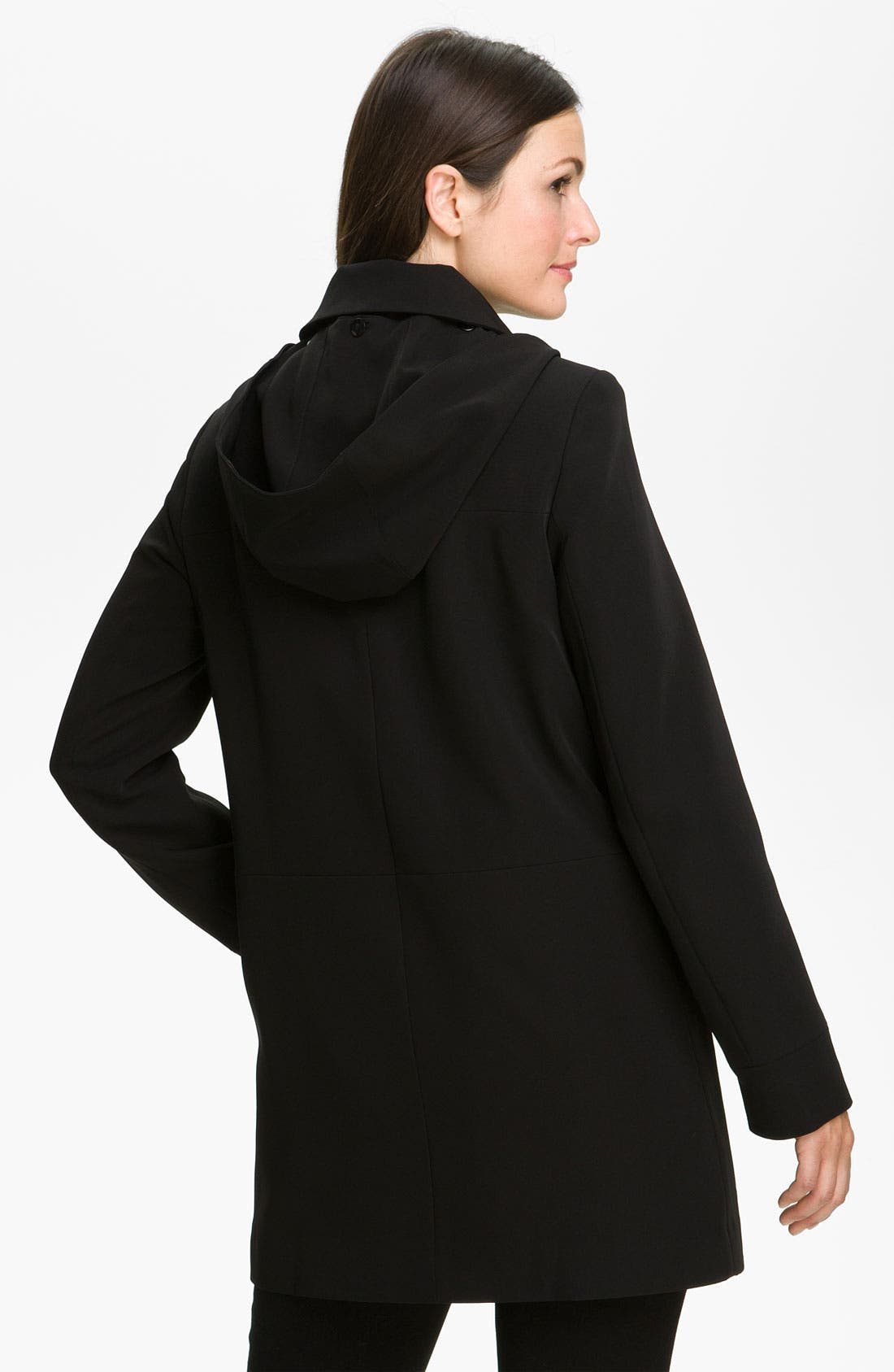 Alternate Image 2  - Gallery Club Collar Coat with Detachable Hood & Liner