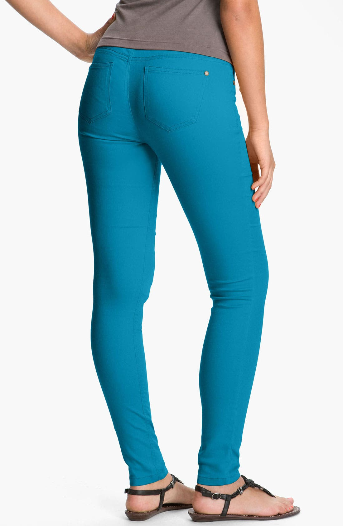 Alternate Image 1 Selected - Fire Skinny Jeans (Juniors) (Online Exclusive)