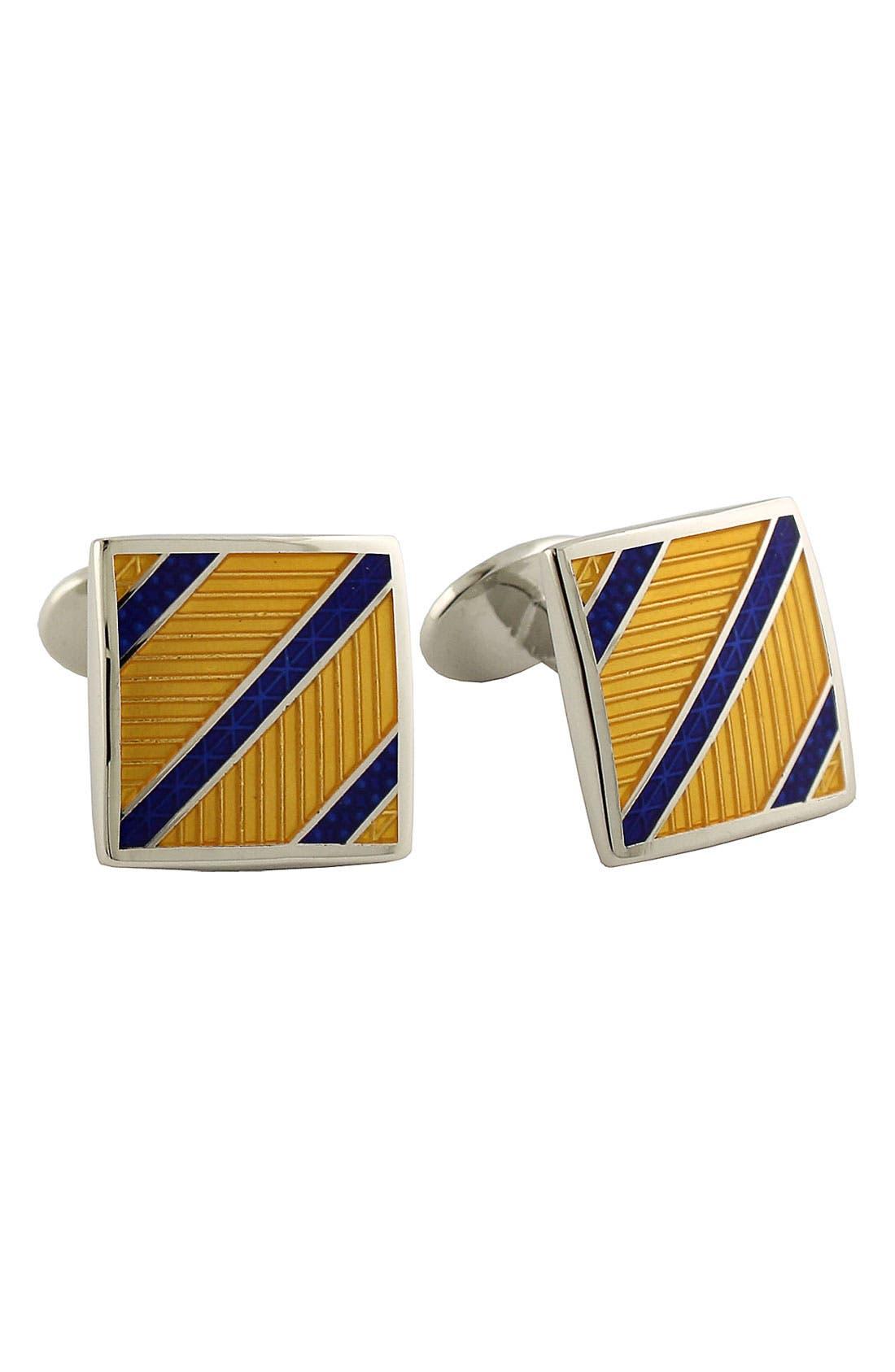 David Donahue 'Diagonal Stripe' Cuff Links