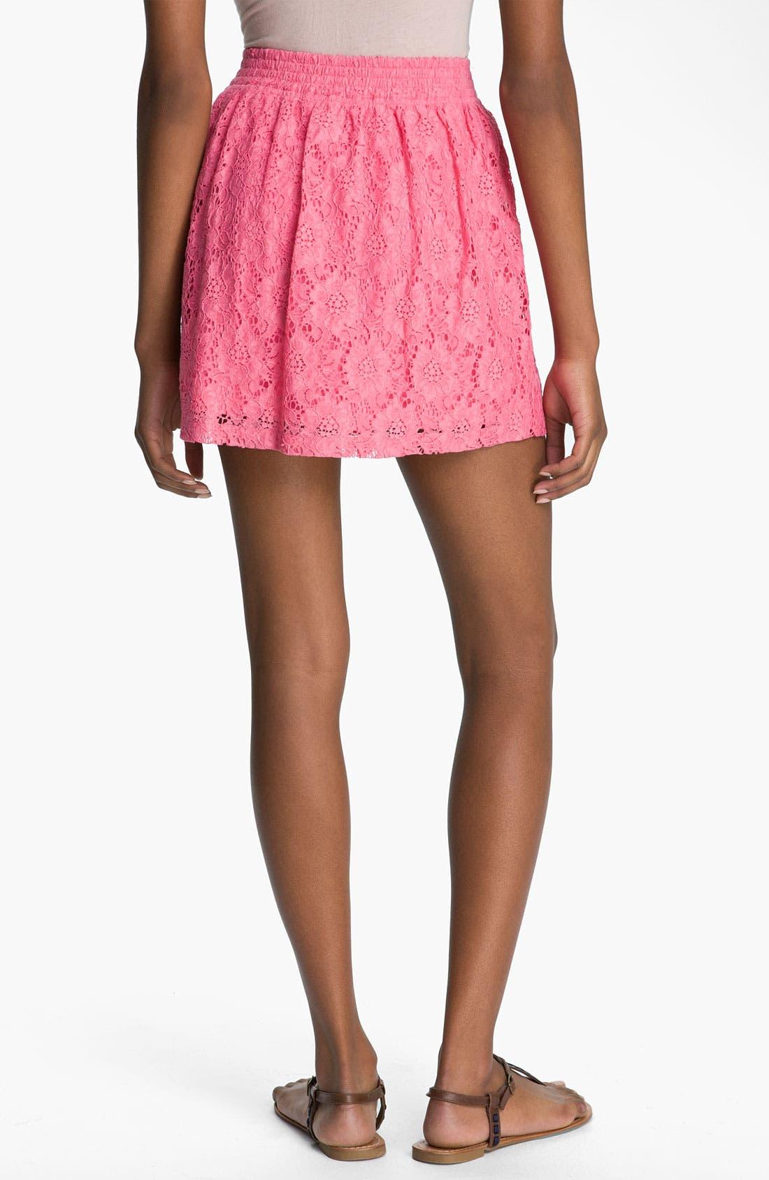 Alternate Image 2  - Frenchi® Lace Skirt (Juniors)