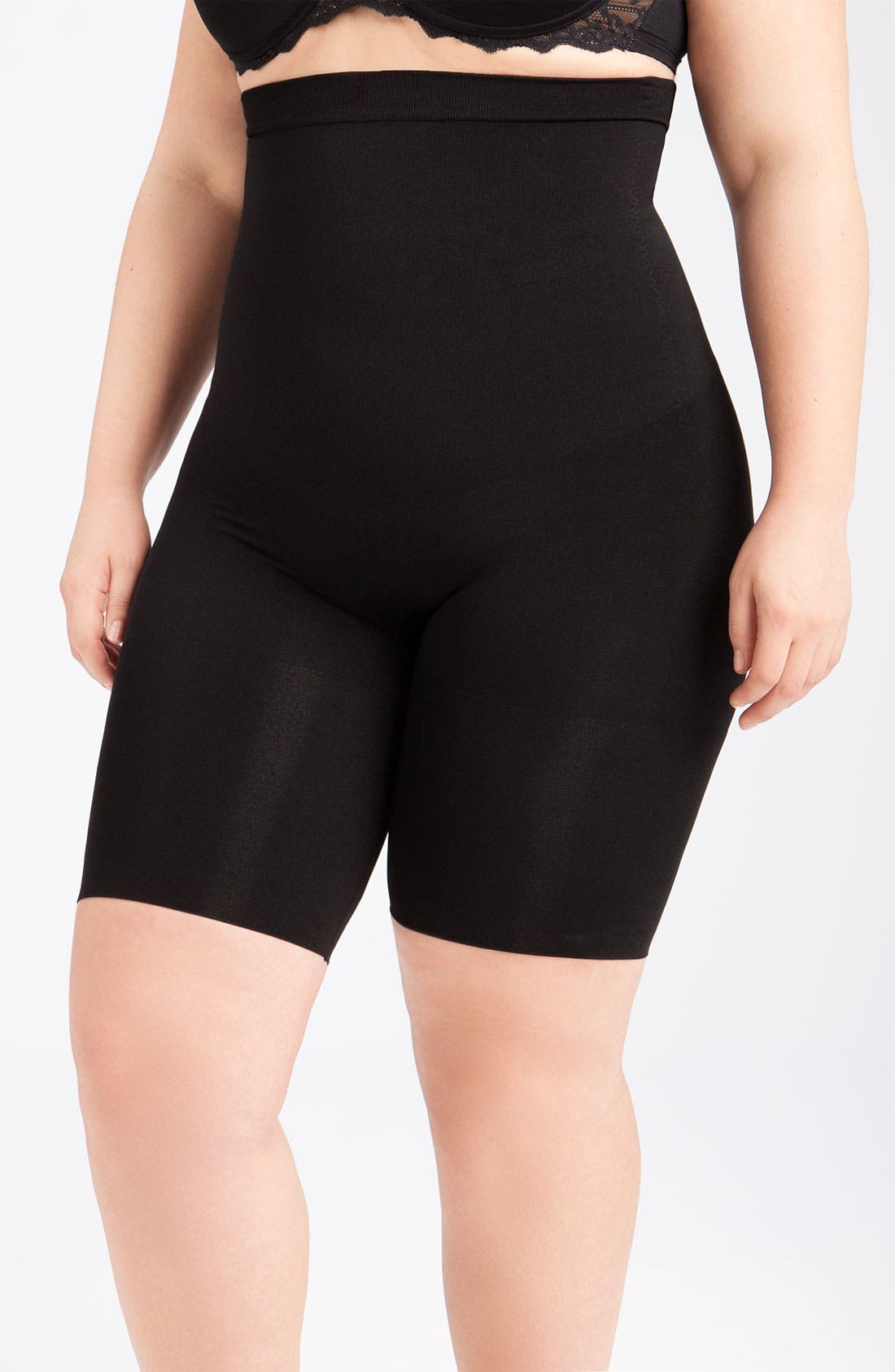 Alternate Image 1 Selected - SPANX® 'Slim Cognito' Mid Thigh Bodysuit Shaper (Plus Size)