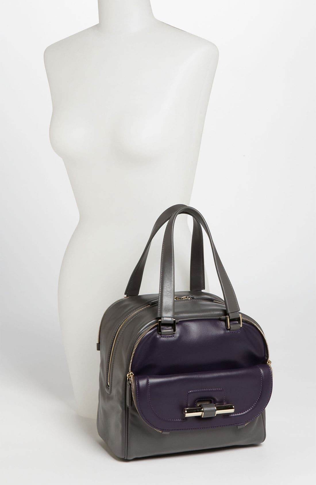 Alternate Image 2  - Jimmy Choo 'Justine - Small' Bicolor Leather Satchel