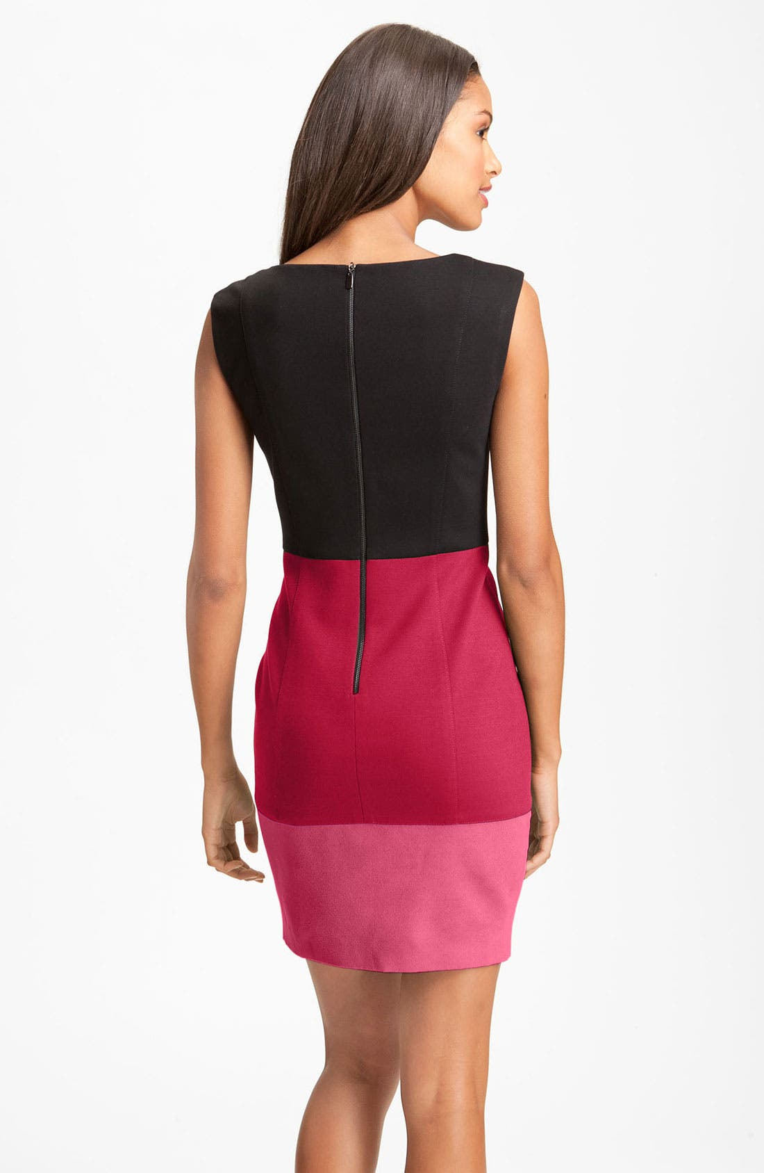 Alternate Image 2  - Laundry by Shelli Segal Colorblock Exposed Zipper Sheath Dress