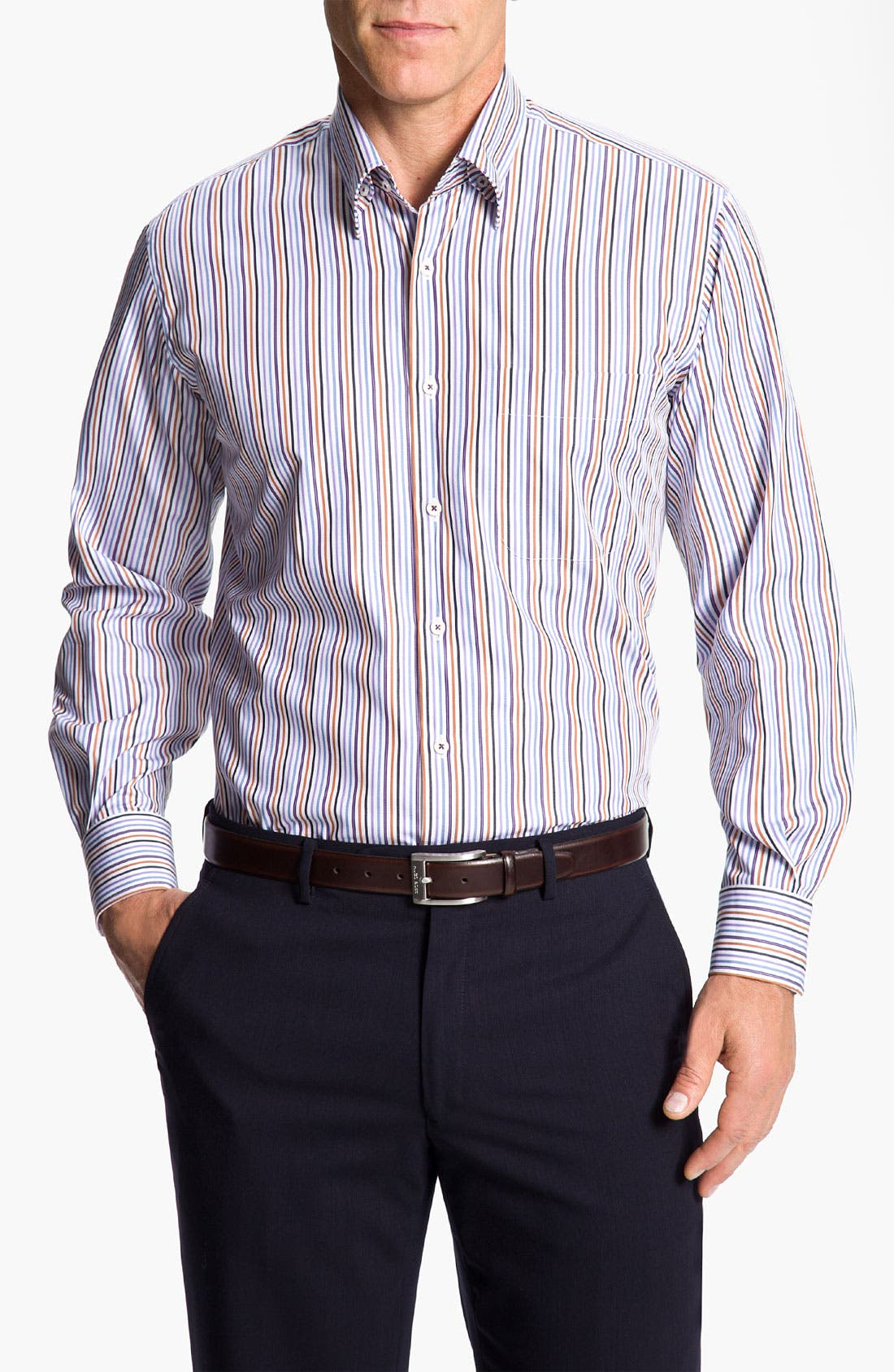 Alternate Image 1 Selected - Peter Millar 'Pinwheel Stripe' Sport Shirt