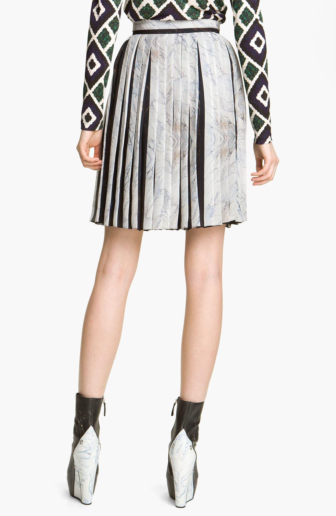 Alternate Image 2  - KENZO Pleated Georgette Skirt