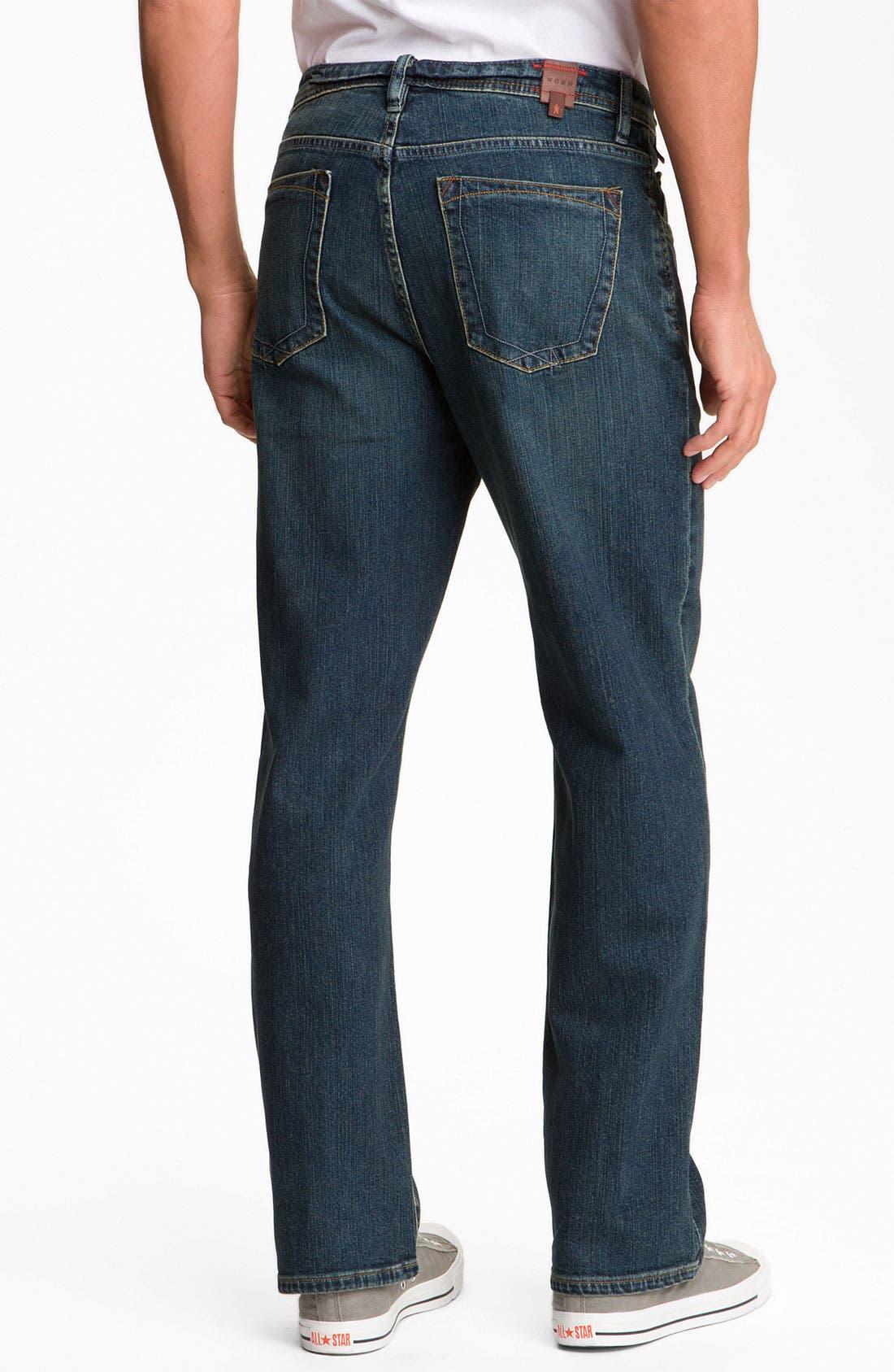 Alternate Image 2  - Worn Jeans 'Octane' Straight Leg Jeans (Dark Edge)
