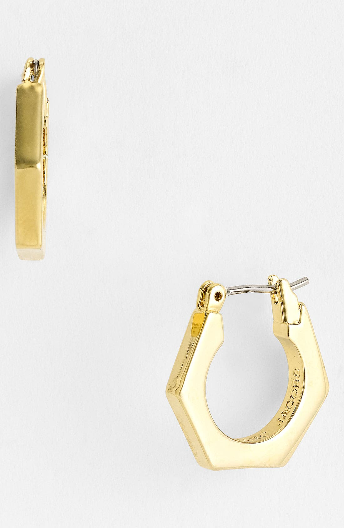 Alternate Image 1 Selected - MARC BY MARC JACOBS 'Bolts - Slice' Small Geometric Hoop Earrings