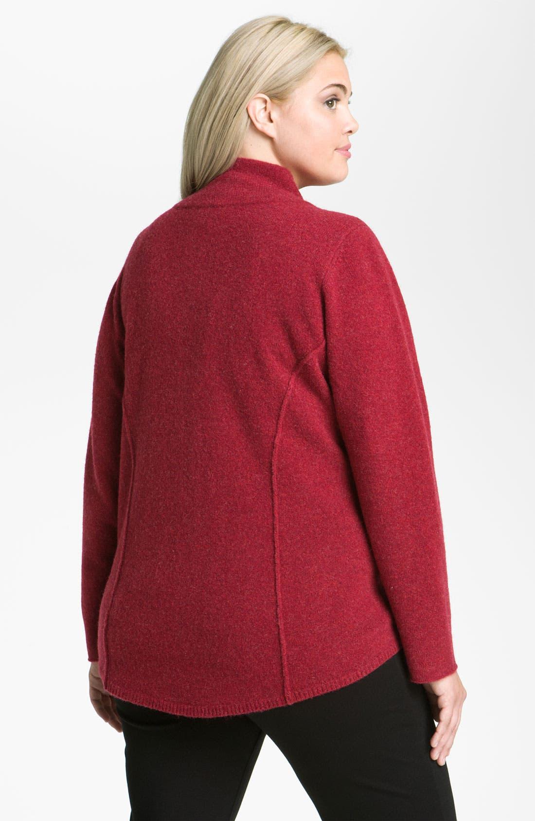 Alternate Image 2  - Eileen Fisher Boiled Wool Jacket (Plus)