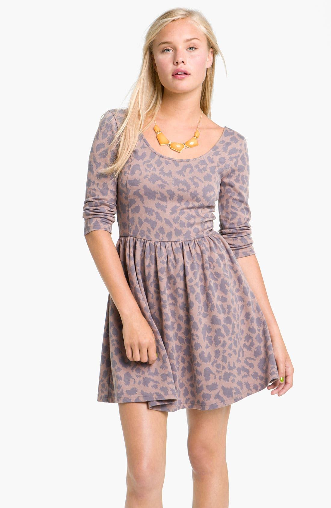 Alternate Image 1 Selected - Frenchi® Leopard Print Knit Dress