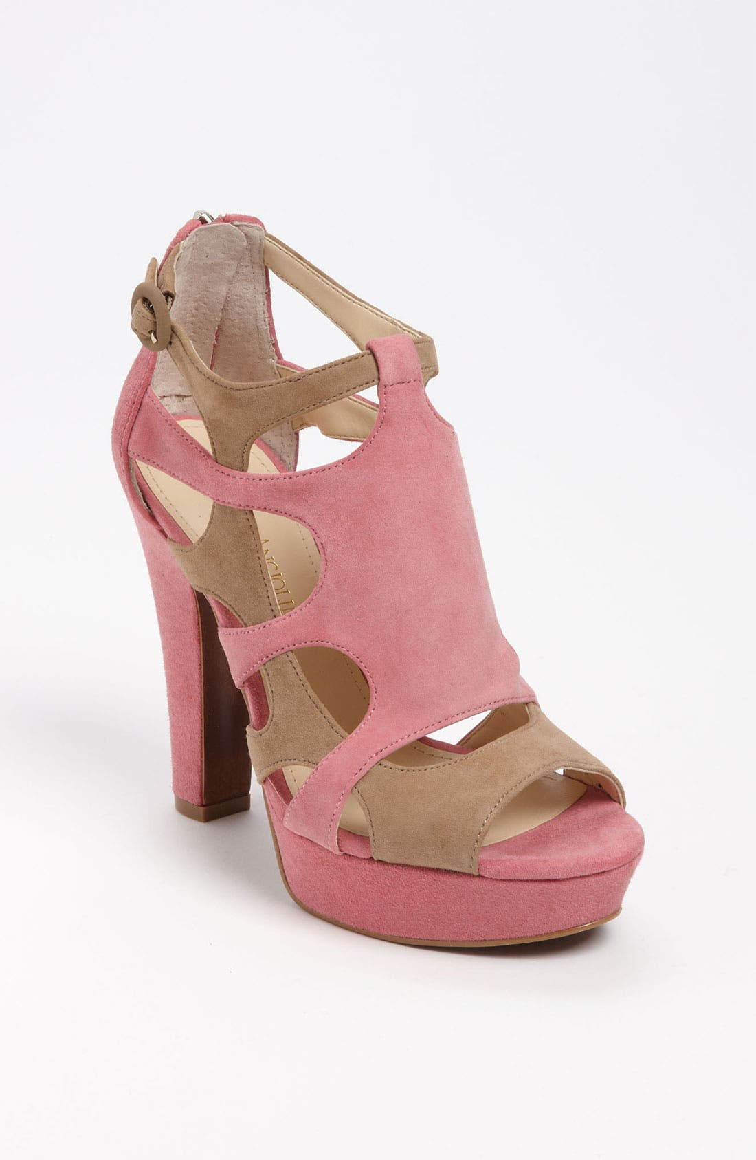 Caged Sandal,                             Main thumbnail 1, color,                             Pink/ Taupe Combo