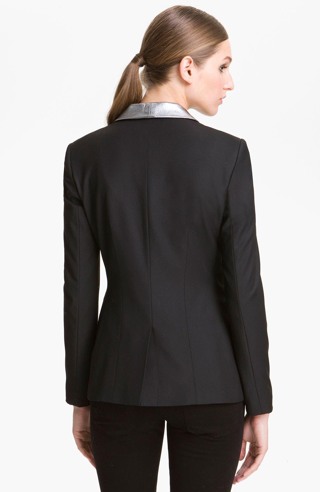 Alternate Image 2  - Elizabeth and James 'Rex' Metallic Leather Collar Blazer