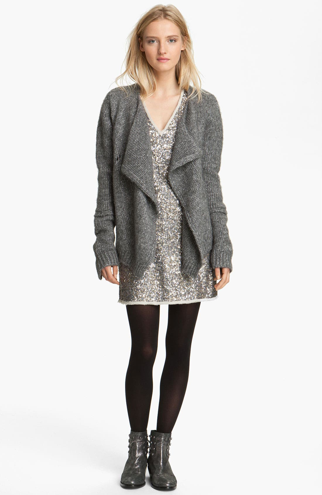 Alternate Image 1 Selected - Zadig & Voltaire Drape Front Cardigan