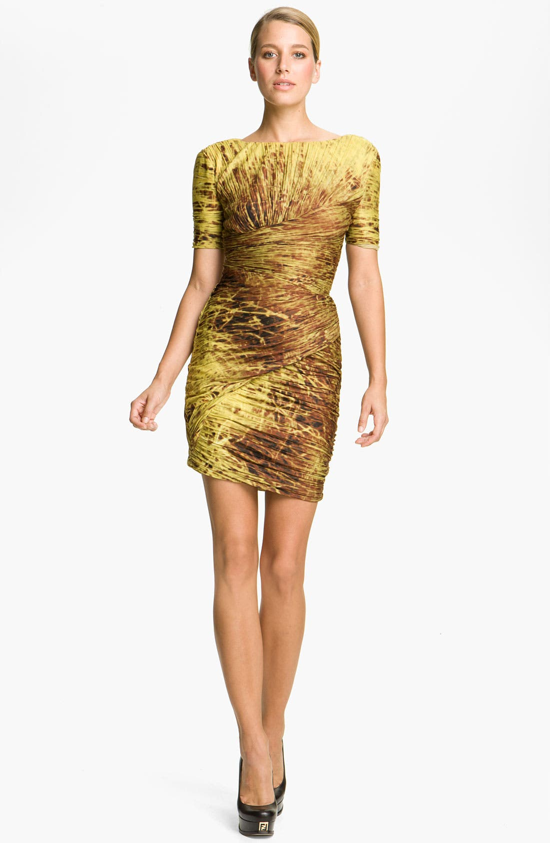 Alternate Image 1 Selected - Halston Heritage Dresses Print Pleated Dress