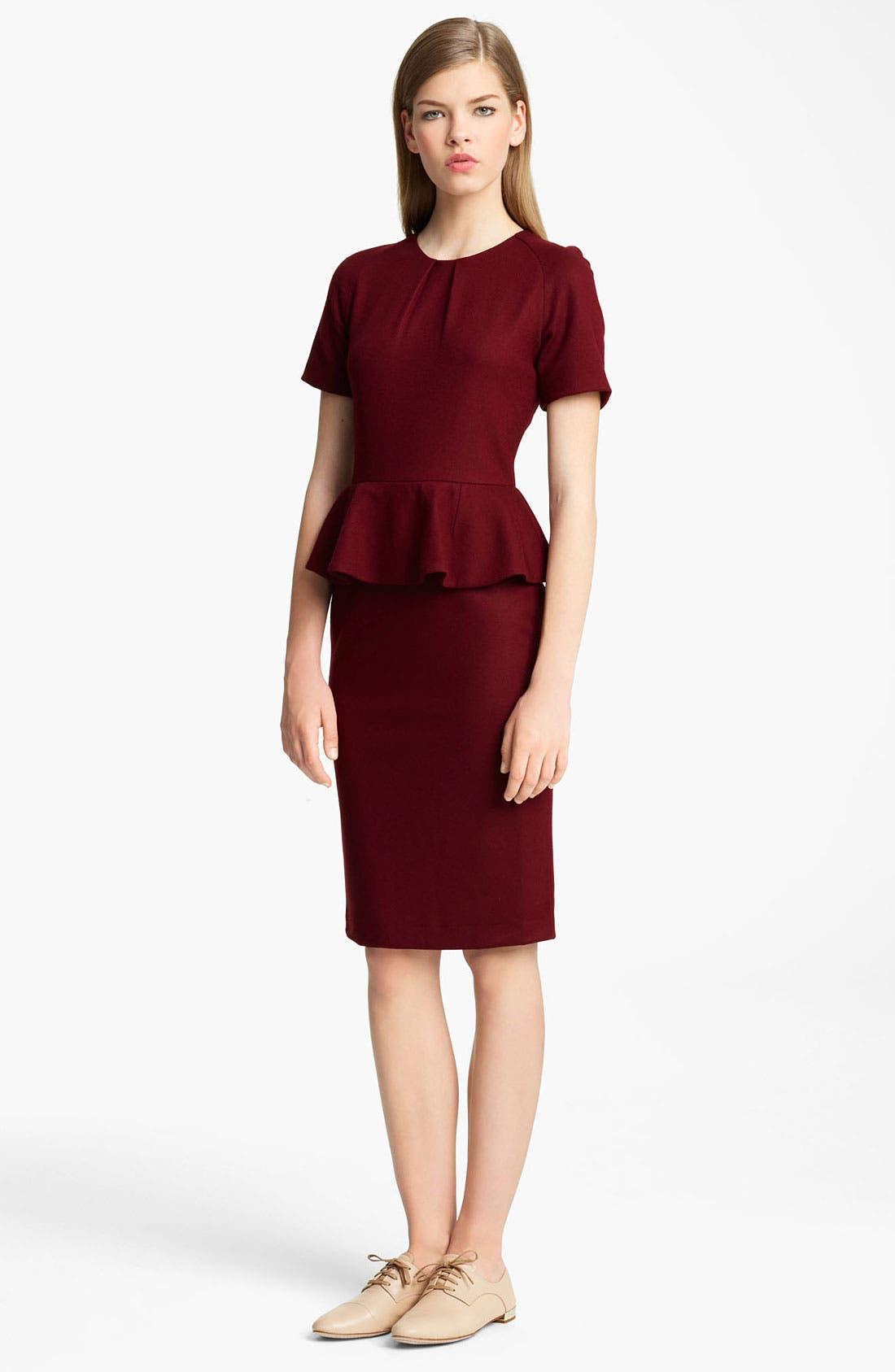 Alternate Image 1 Selected - Jil Sander Peplum Dress