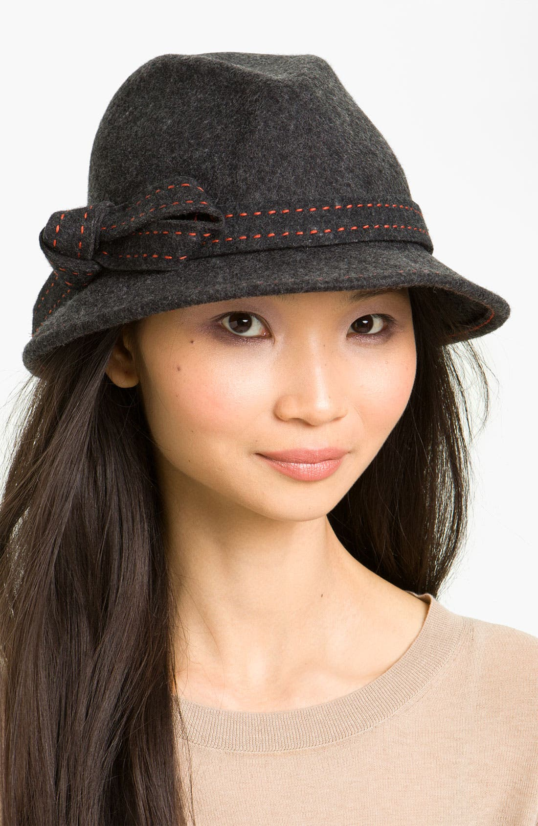 Alternate Image 1 Selected - Nordstrom Pickstitch Bow Fedora