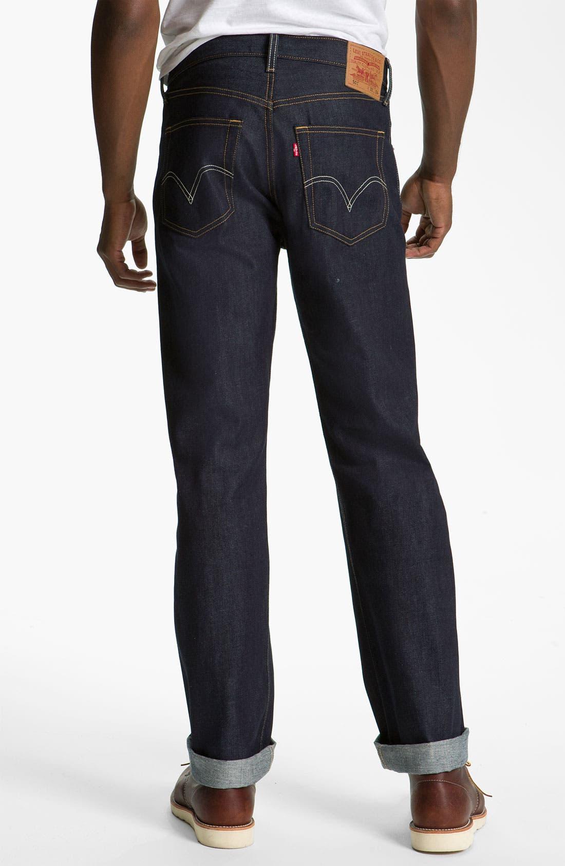 Alternate Image 1 Selected - Levi's '501®' Straight Leg Jeans (Rigid Selvedge)