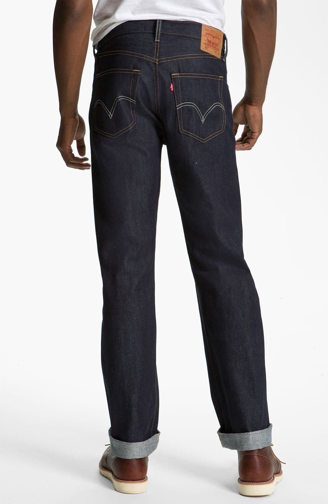Main Image - Levi's '501®' Straight Leg Jeans (Rigid Selvedge)