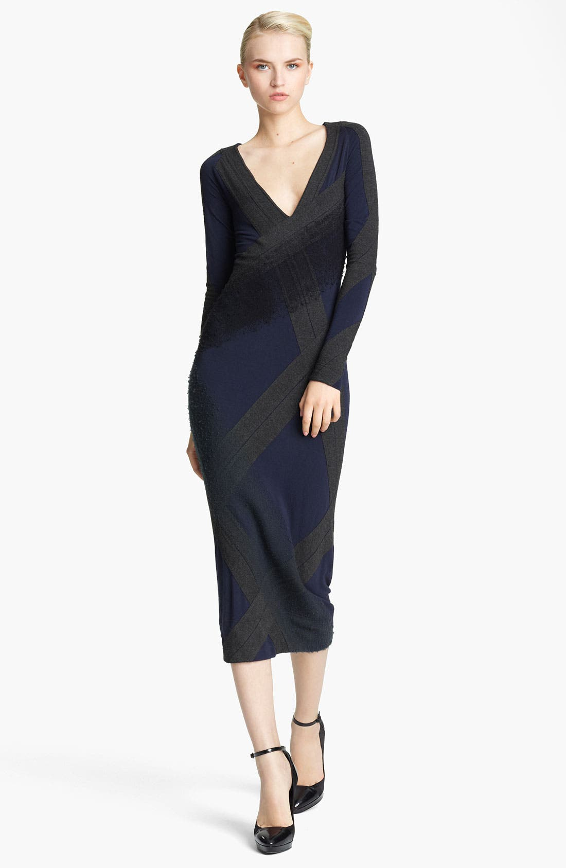 Alternate Image 1 Selected - Donna Karan Collection Needle Punch Jersey Dress