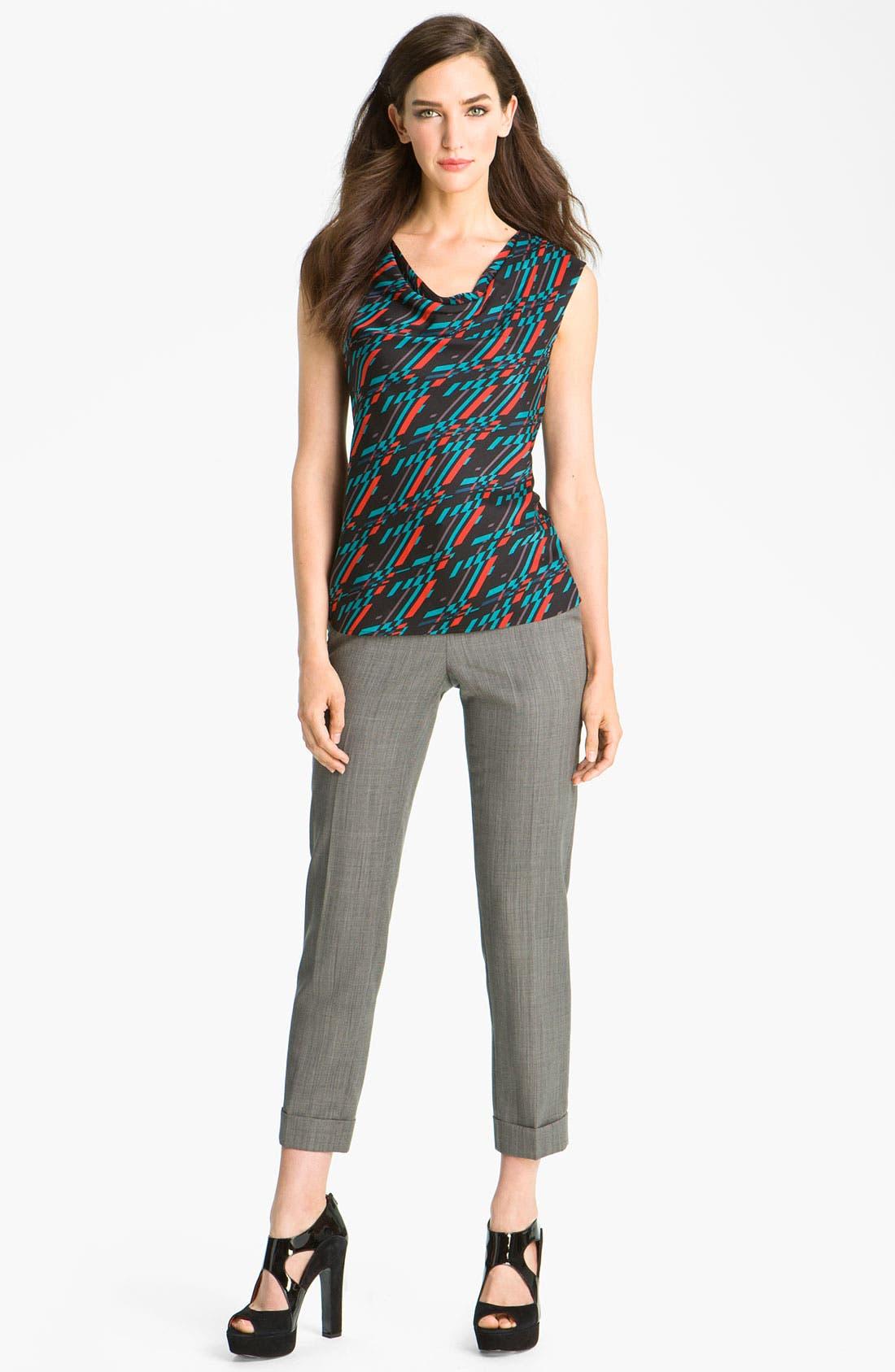 Alternate Image 4  - Classiques Entier® Drape Neck Stretch Silk Top