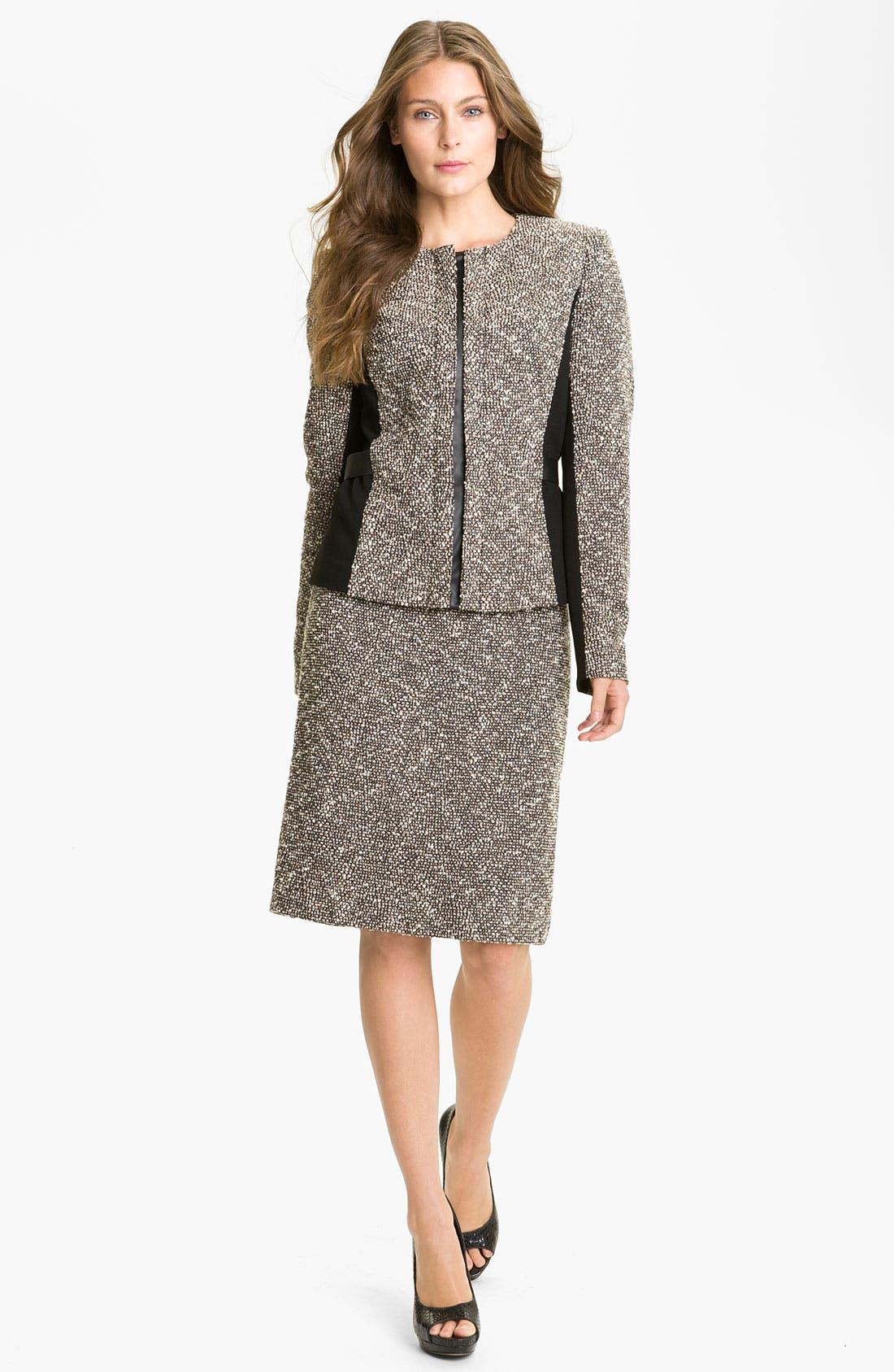 Alternate Image 4  - Lafayette 148 New York 'Bijoux' Slim Tweed Skirt