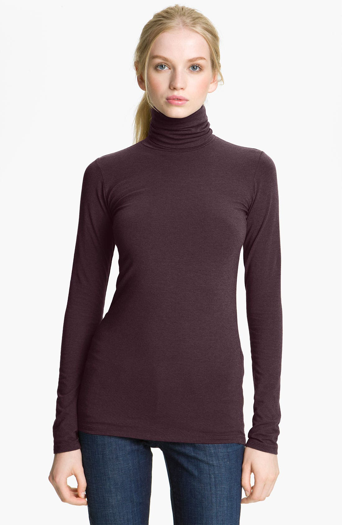 Main Image - Majestic Cotton & Cashmere Turtleneck
