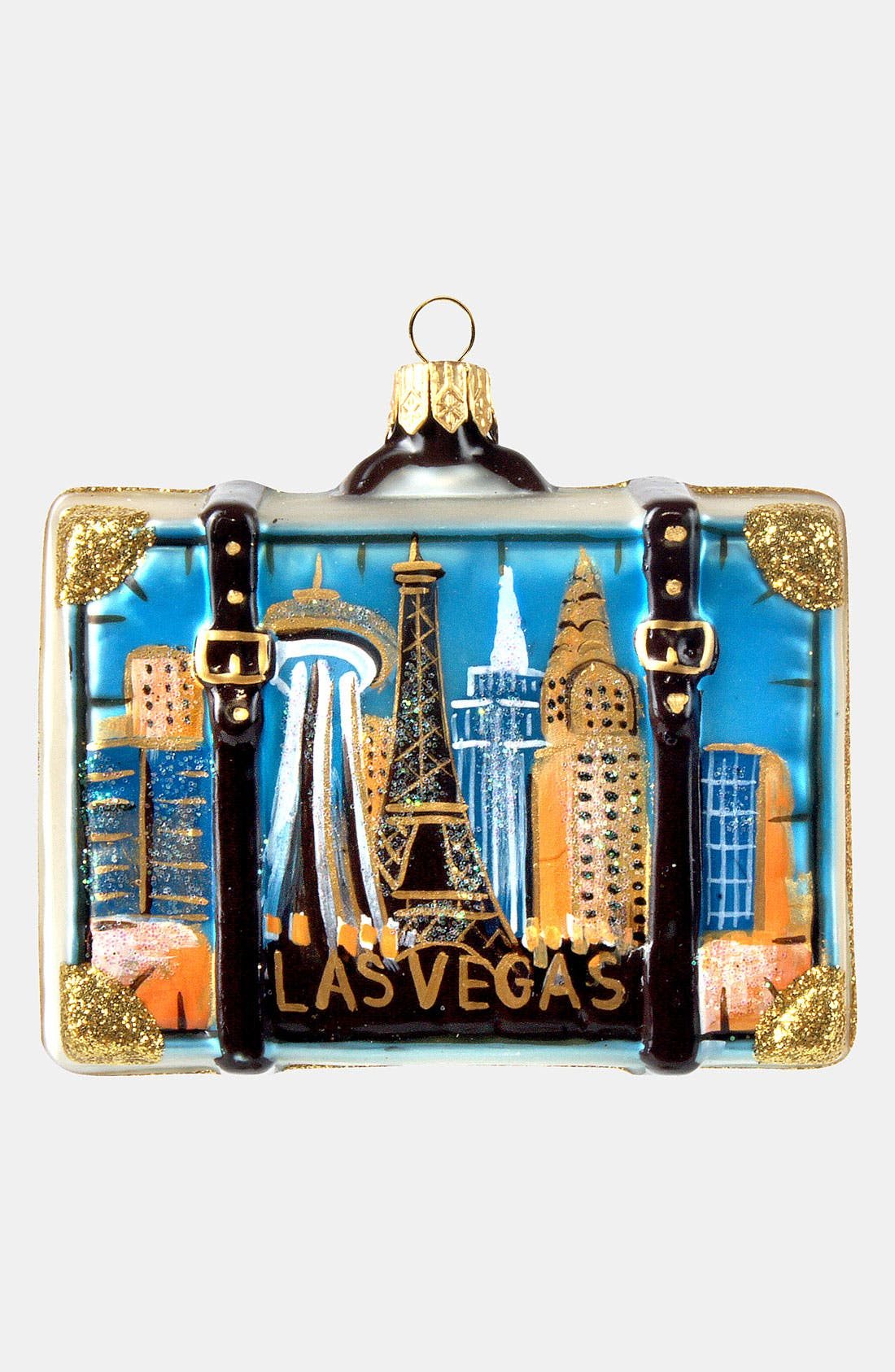 Main Image - Nordstrom at Home 'Las Vegas' Glass Suitcase Ornament