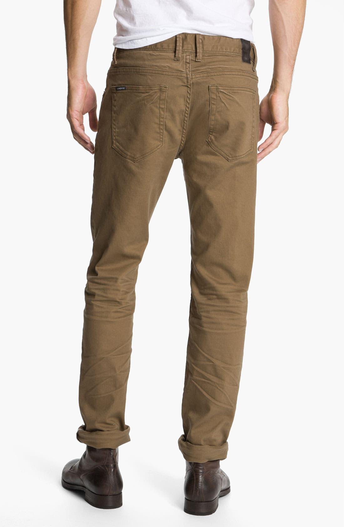 Alternate Image 1 Selected - Zanerobe 'Straight Mate' Slim Straight Leg Jeans (Tan)