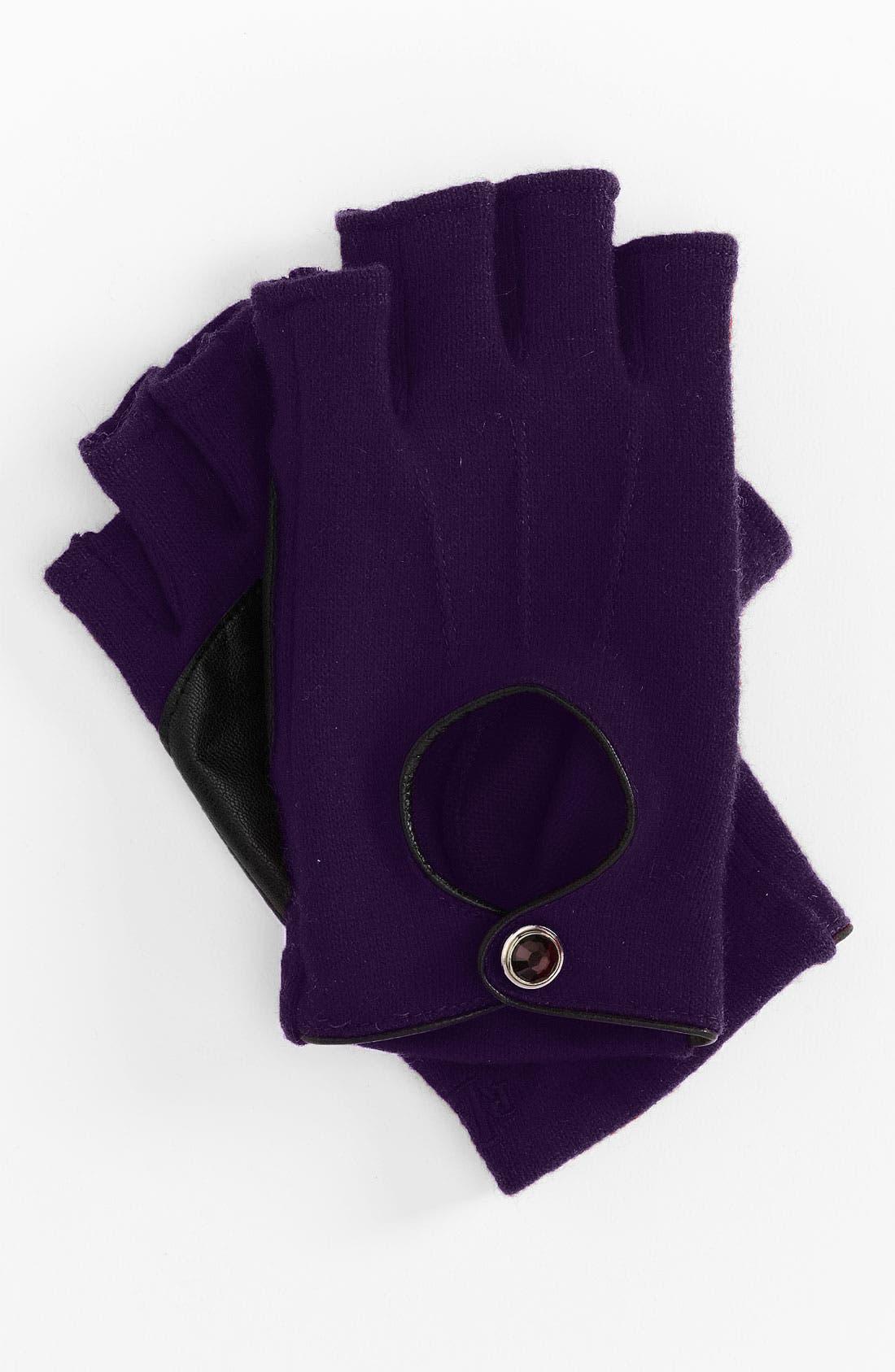 Alternate Image 1 Selected - Lauren Ralph Lauren Fingerless Driving Gloves