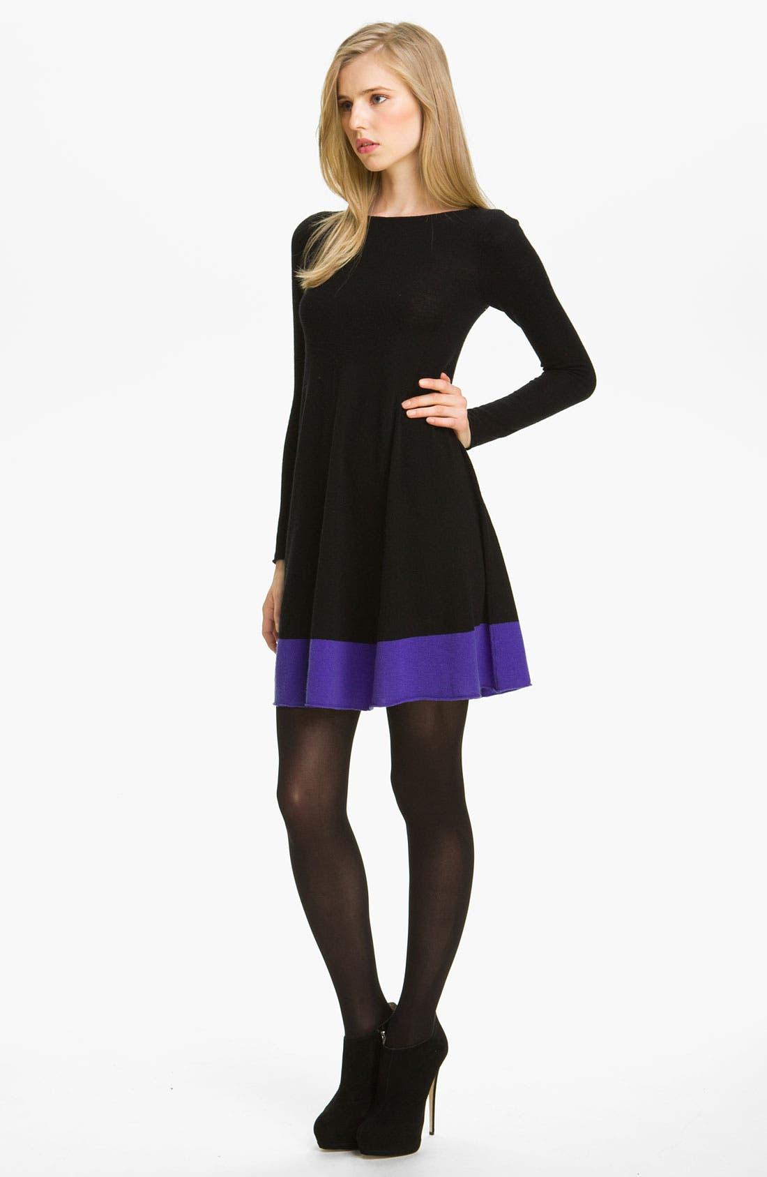 Alternate Image 1 Selected - autumn cashmere Colorblock Flared Dress