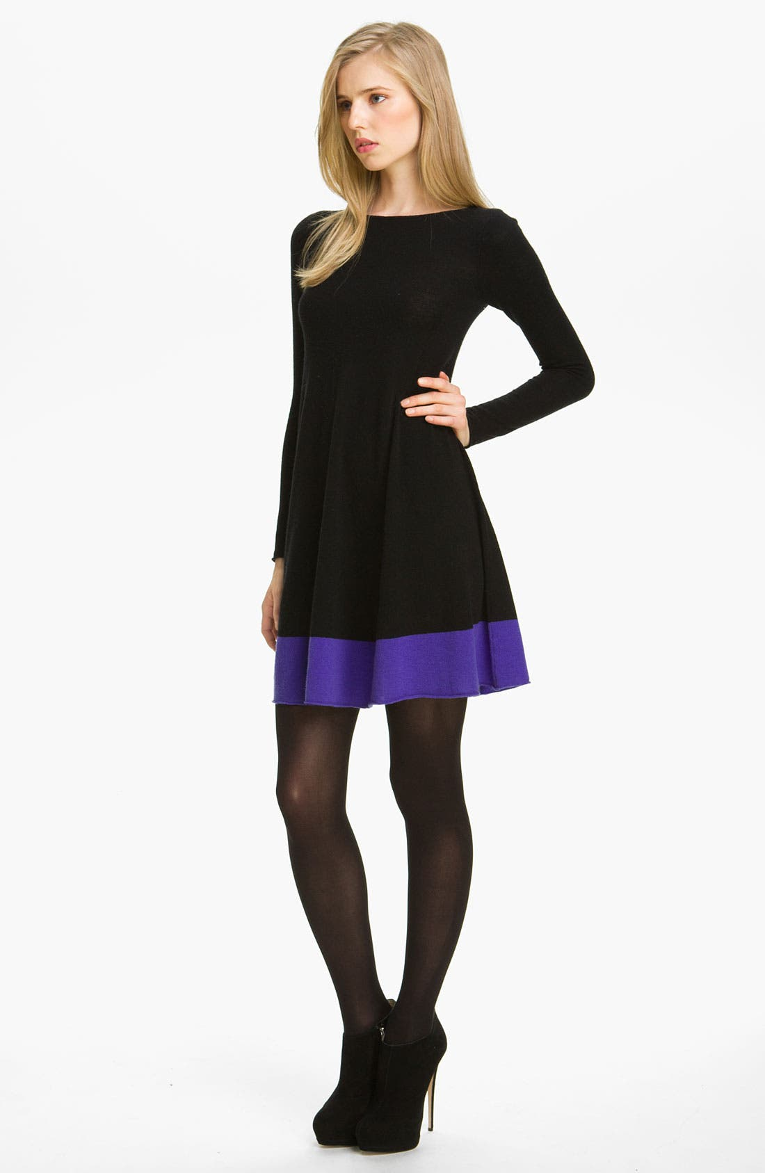 Main Image - autumn cashmere Colorblock Flared Dress