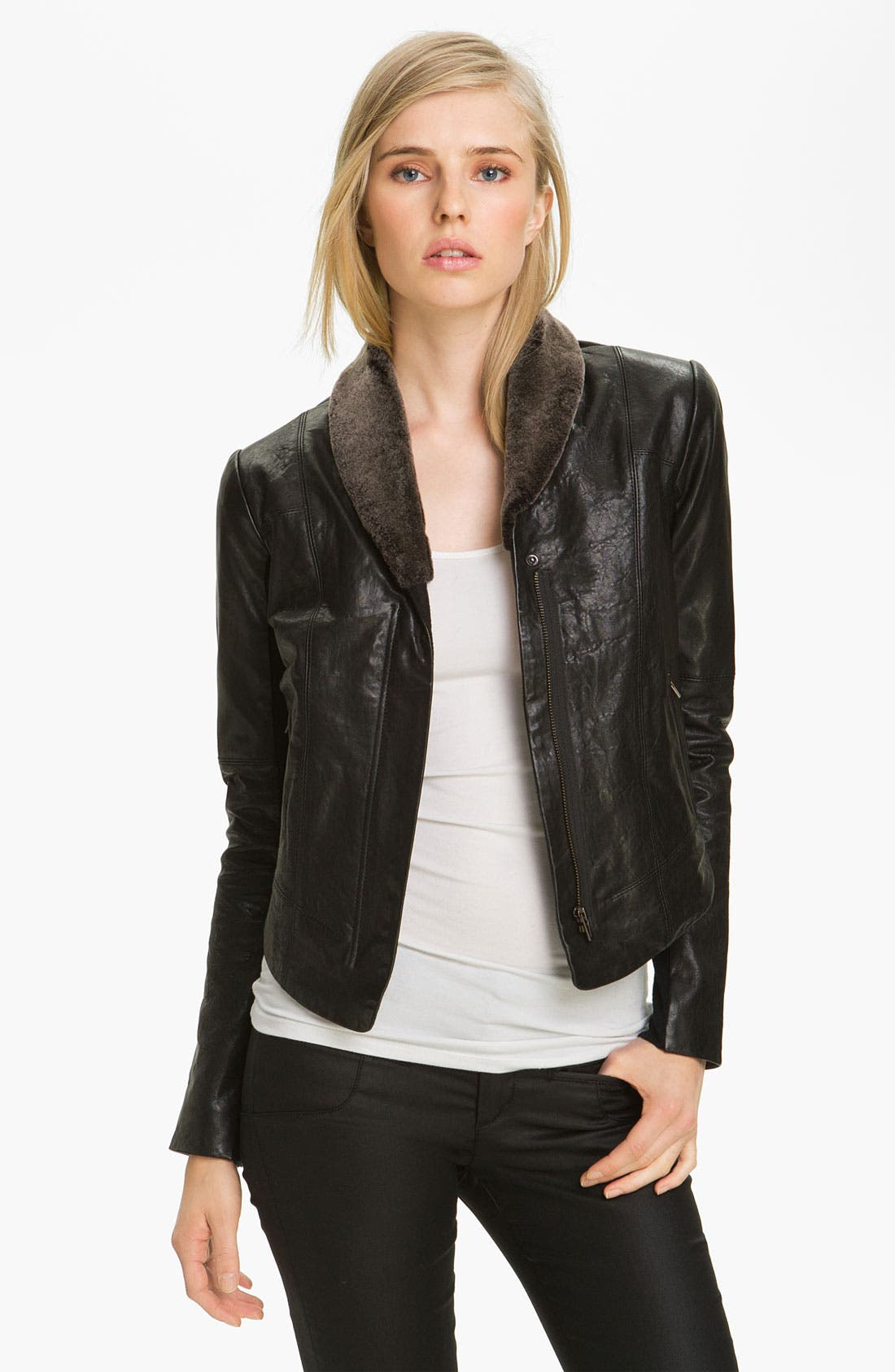 Main Image - Veda 'Dom' Shearling Shawl Collar Jacket