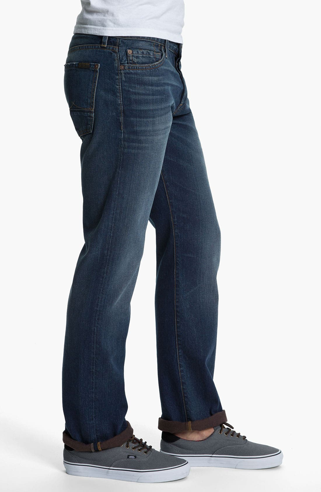 Alternate Image 3  - 7 For All Mankind® Standard Straight Leg Jeans (Carmel Valley)