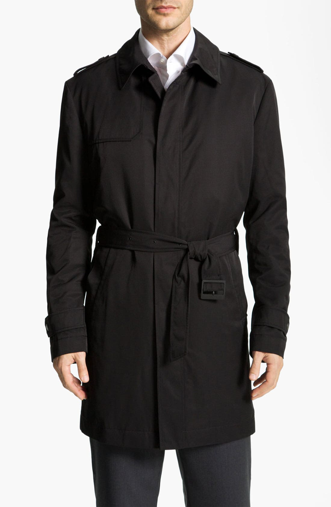 Alternate Image 1 Selected - BOSS Black 'Trait' Raincoat