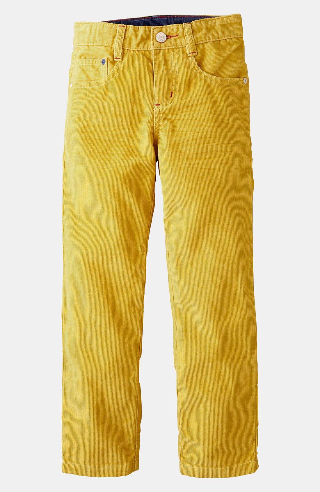 Alternate Image 1 Selected - Mini Boden 'Preppy' Slim Corduroy Pants (Little Boys & Big Boys)