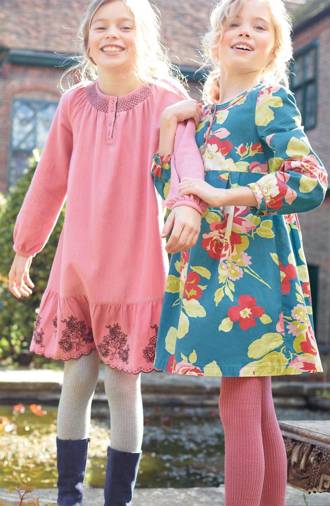 Alternate Image 2  - Mini Boden Embroidered Hem Dress (Little Girls & Big Girls)