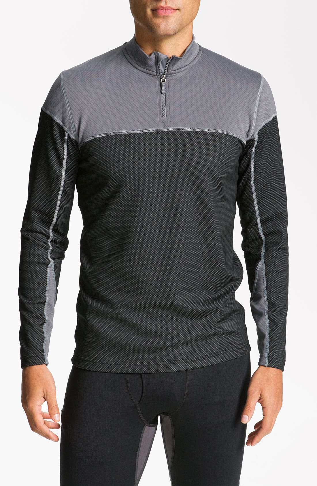 Alternate Image 1 Selected - Under Armour 'CG Thermo' Fitted Quarter Zip Running Top