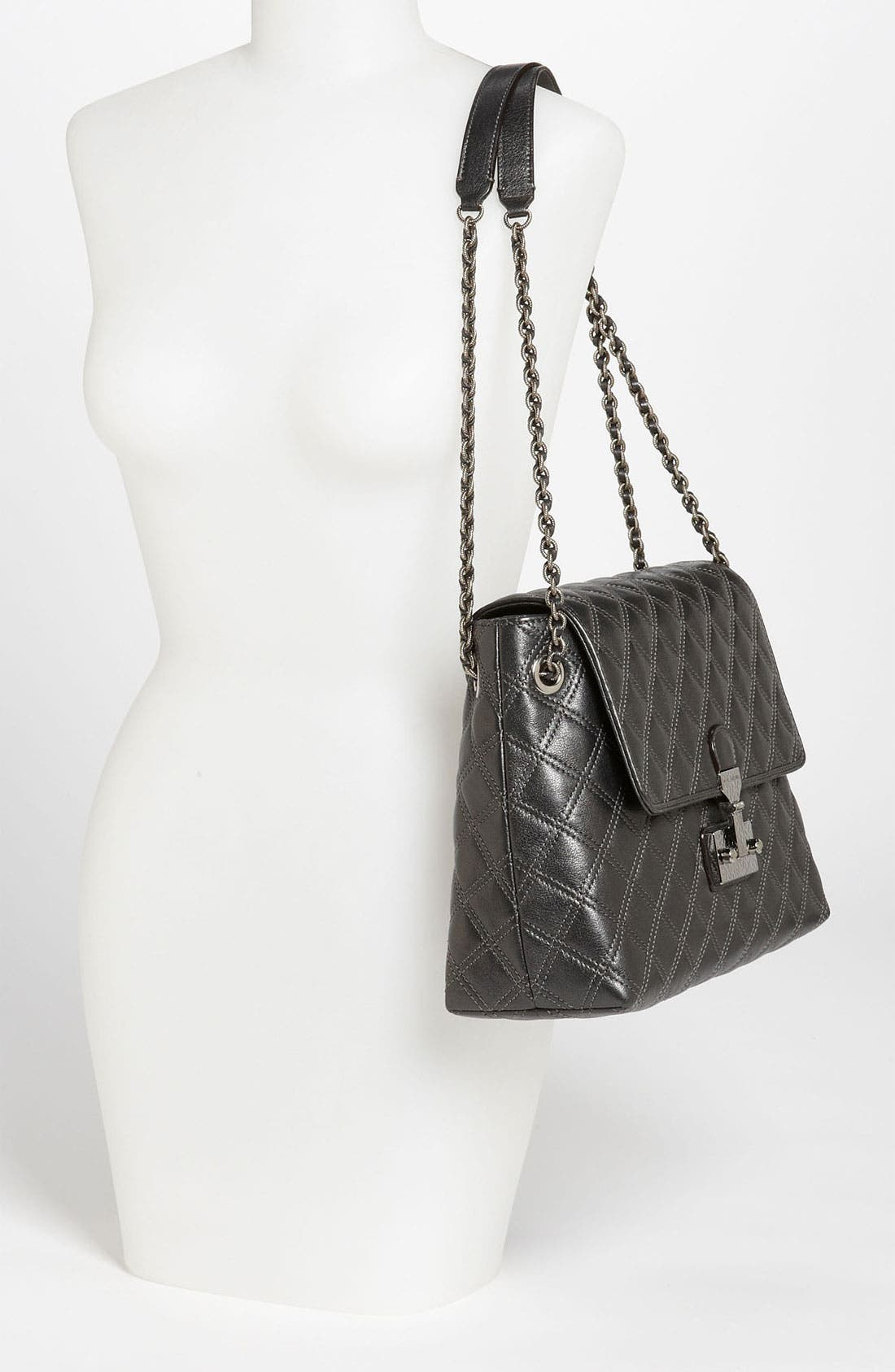 Alternate Image 2  - MARC JACOBS 'Baroque XL Single' Leather Shoulder Bag