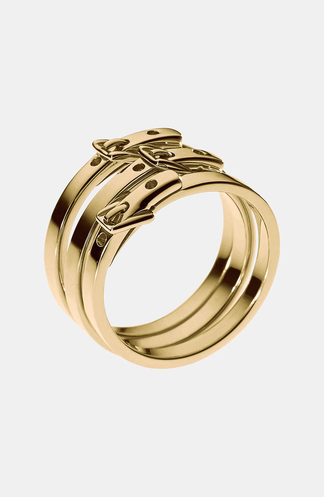 Alternate Image 1 Selected - Michael Kors Buckle Stack Rings (Set of 3)