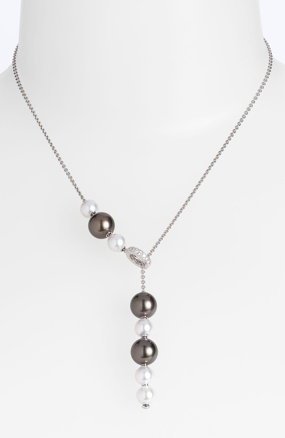 Main Image - Mikimoto 'Pearls in Motion' Black South Sea & Akoya Cultured Pearl Necklace