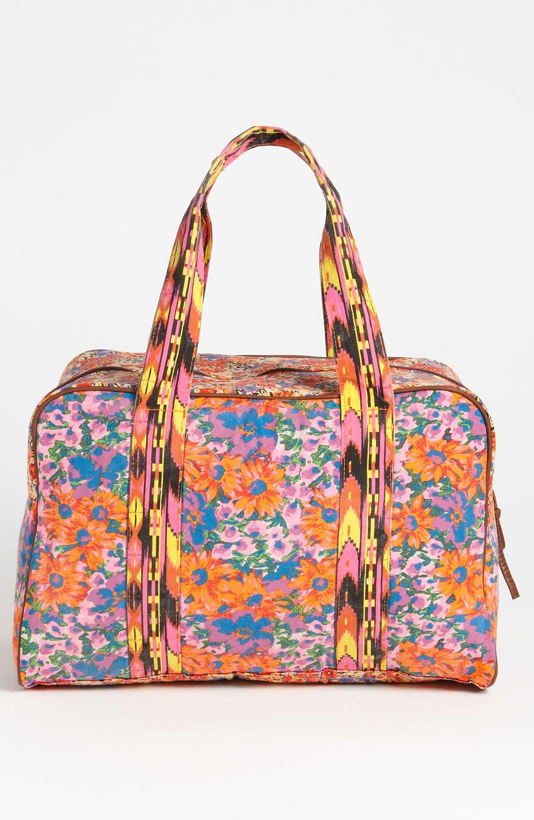 Alternate Image 2  - Lulu Mix Print Duffel Bag (Juniors)