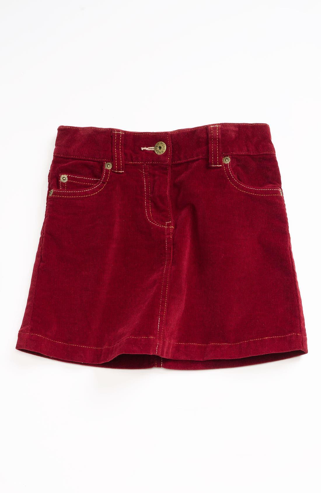 Main Image - Mini Boden Heart Pocket Jean Skirt (Toddler)