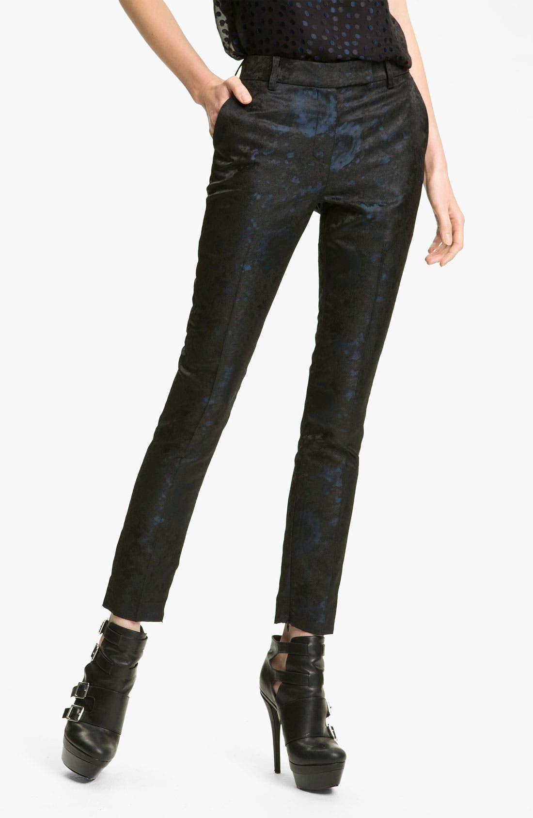 Alternate Image 1 Selected - Rachel Zoe 'Ian' Cigarette Leg Jacquard Pants