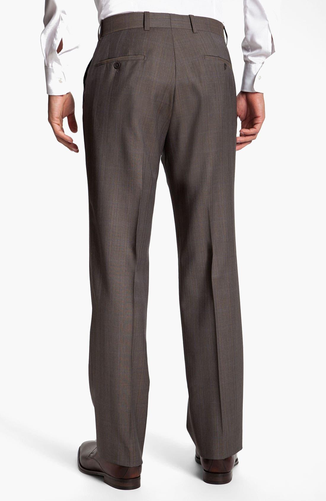 Alternate Image 2  - Linea Naturale 'Bensol' Plaid Wool Trousers