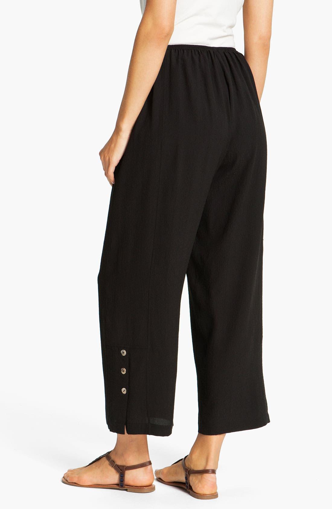 Alternate Image 2  - Citron Silk Crop Pants (Petite)