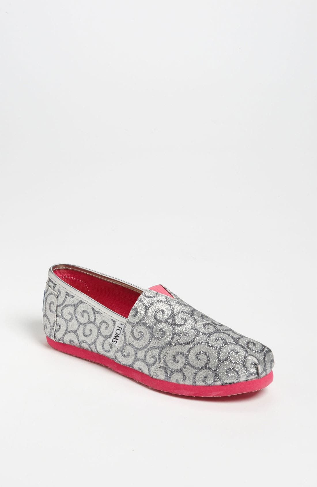 Main Image - TOMS 'Classic Youth - Block Glitter' Slip-On (Toddler, Little Kid & Big Kid)