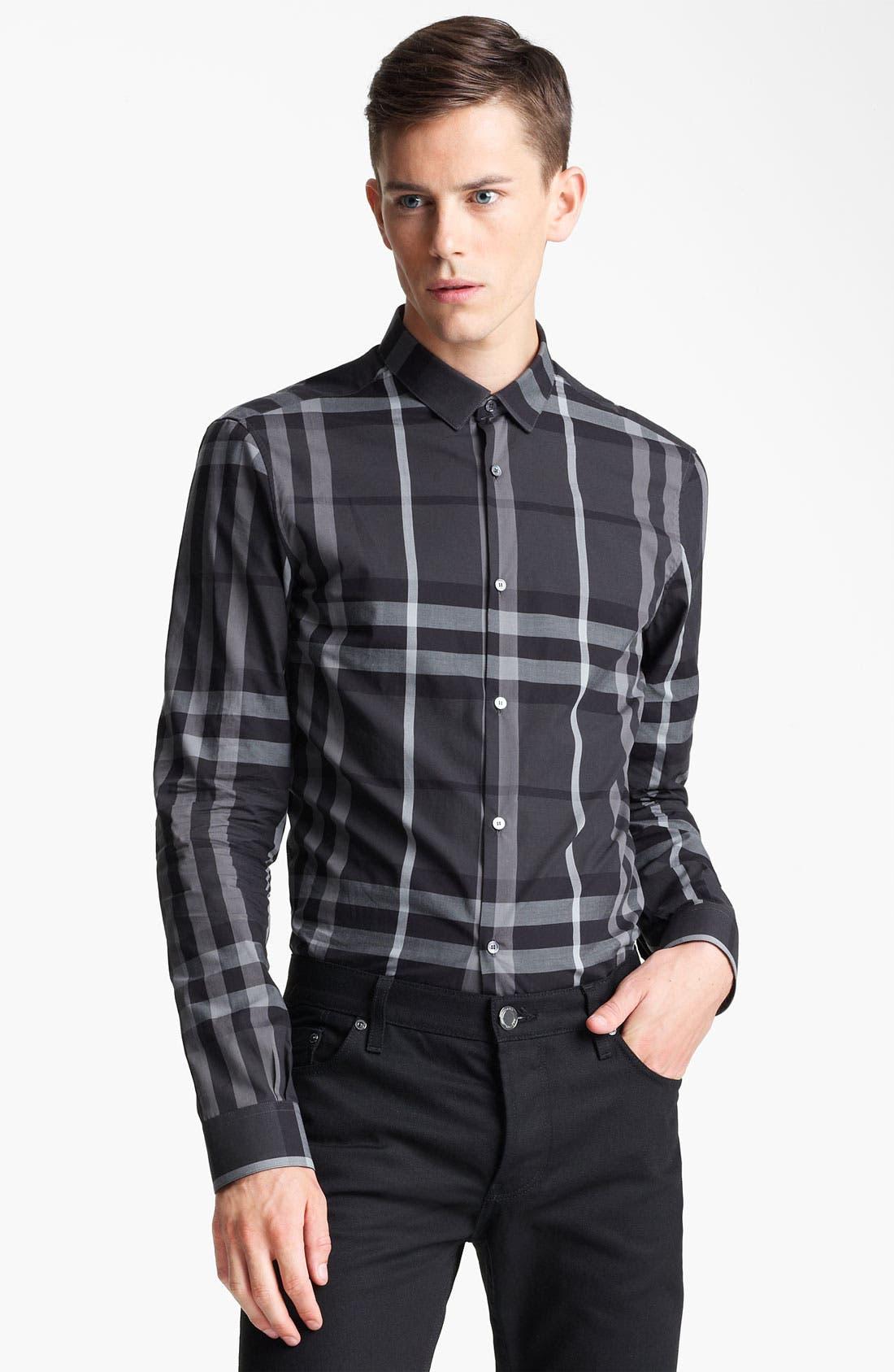 Alternate Image 1 Selected - Burberry London 'Pembury' Check Sport Shirt