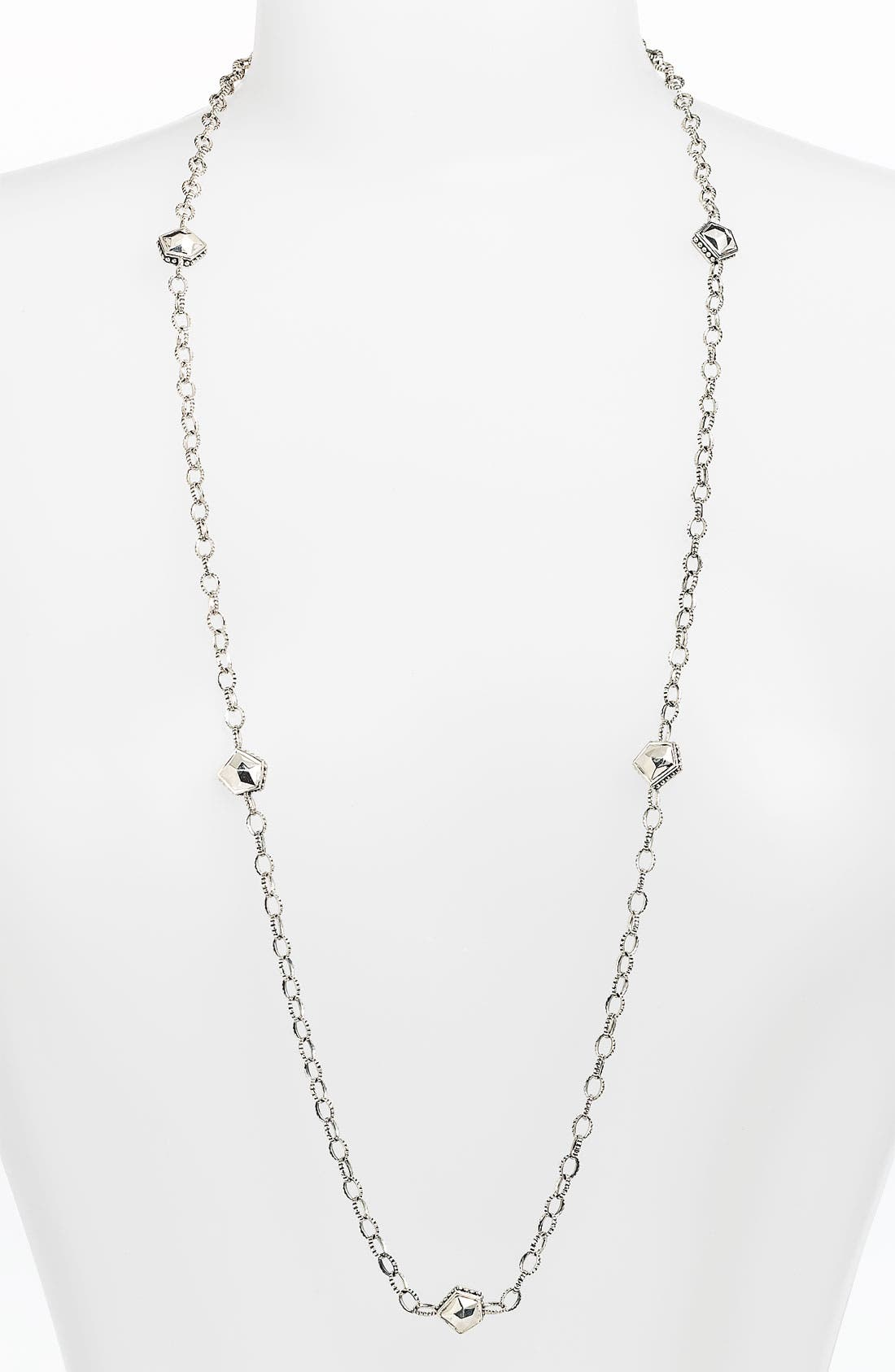 Main Image - LAGOS 'Silver Rocks' Long Station Necklace