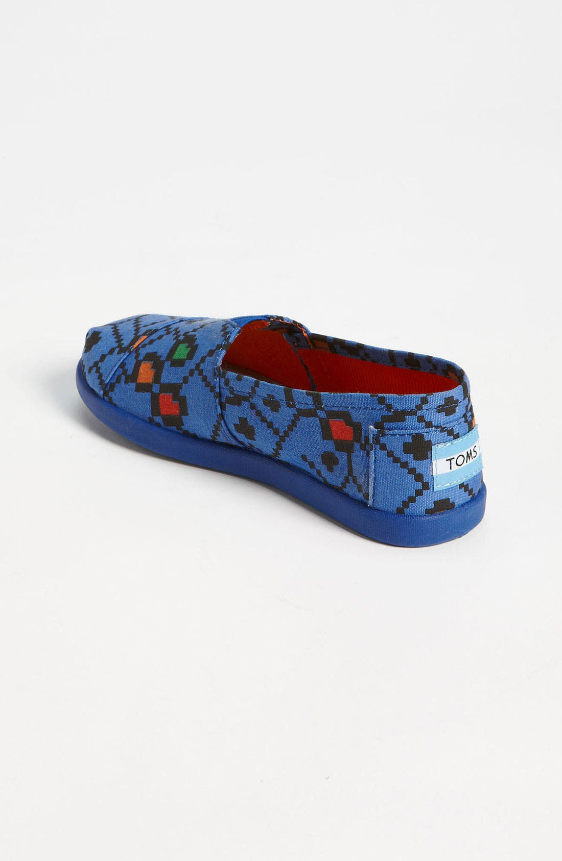 Alternate Image 2  - TOMS 'Classic Youth - Geo Squares' Slip-On (Toddler, Little Kid & Big Kid)