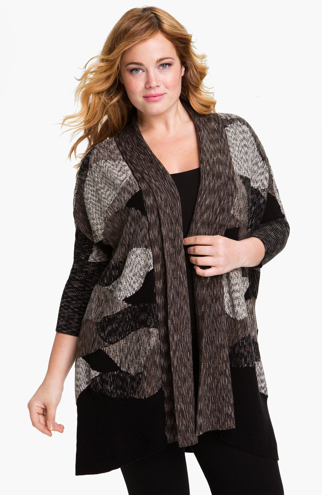 Alternate Image 1 Selected - Nic + Zoe 'Arctic Tundra' Cardigan (Plus)